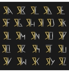 letter r with alphabet vector image