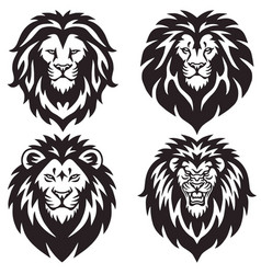 lion logo set collection premium design vector image