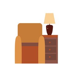 living room furniture poster vector image