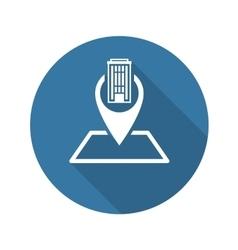 Location Icon Flat Design vector
