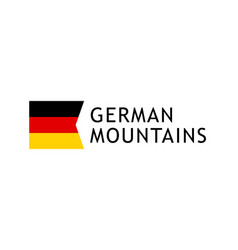 logotype template for tours to germanalpine vector image