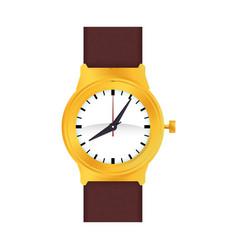 luxury wristwatch clock vector image