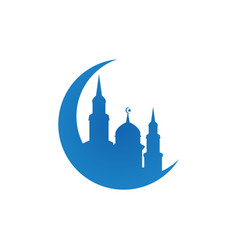 Mosque silhouette logo icon design template vector