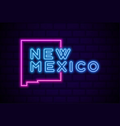new mexico us state glowing neon lamp sign vector image