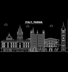 parma silhouette skyline italy - parma vector image