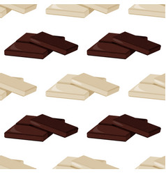 Pieces dark and white milk chocolate seamless vector