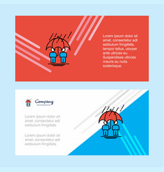 raining abstract corporate business banner vector image