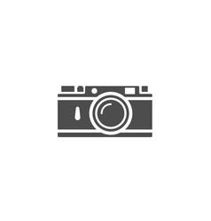 rangefinder camera icon isolated on white vector image
