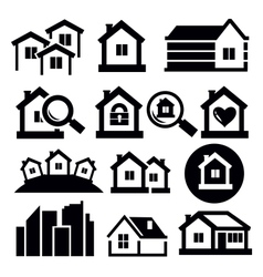 Real estate icon set vector