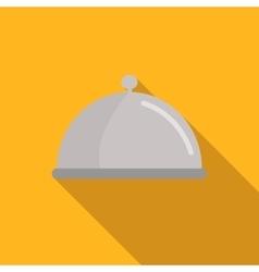 Restaurant cloche flat icon vector