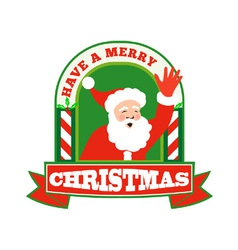 Santa Claus Father Christmas Retro vector image
