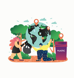save planet flat style design vector image