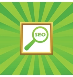 SEO search picture icon vector