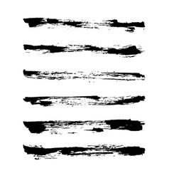 Set hand drawn grunge brush vector