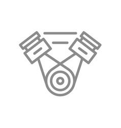 simple car engine motor line icon symbol vector image