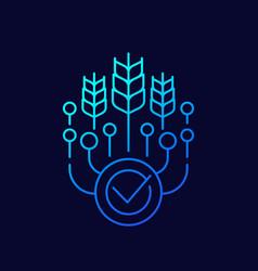 Smart farming icon linear design vector