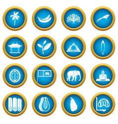sri lanka travel icons blue circle set vector image