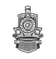 Steam locomotive sketch vector