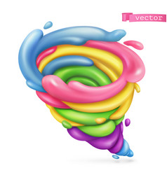 Sweet tornado 3d icon vector