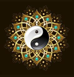 Symbol of yin yang mandala vector