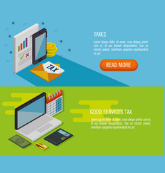 tax day time set icons vector image