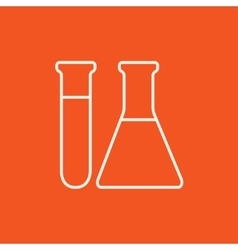 Test tubes line icon vector image