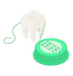 tooth floss icon isometric style vector image
