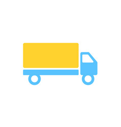 transport car icon in flat design car in blue and vector image