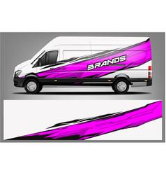 van wrap design wrap vector image