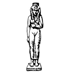 vintage engraving an ancient egyptian woman vector image