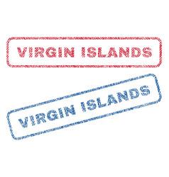 Virgin islands textile stamps vector