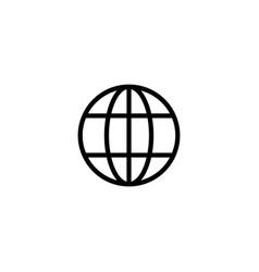 website online internet icon global url vector image