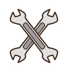 cartoon steel spanner tool repair vector image