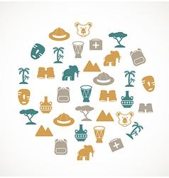 Africa symbols vector image vector image