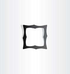 black empty frame icon vector image
