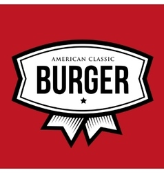 Burger - American Classic Vintage logo vector image vector image