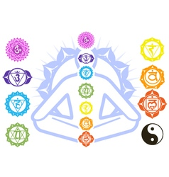 Chakras and spirituality symbols vector
