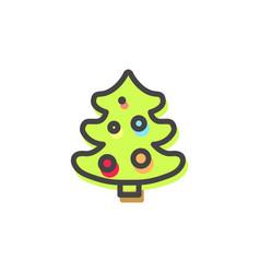 evergreen pine tree christmas vector image vector image