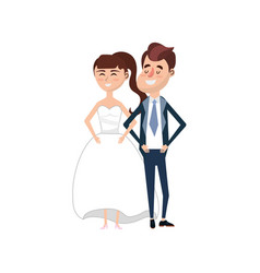 happy couple together and romantic celebration vector image vector image