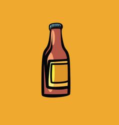 mockup sauce bottle vector image vector image
