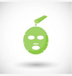 aloe vera facial mask flat icon vector image