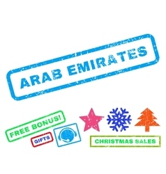 Arab Emirates Rubber Stamp vector image