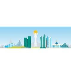 Astana abstract skyline vector image vector image