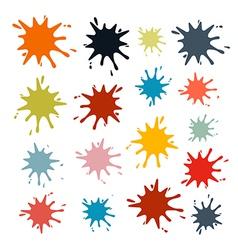 Colorful Splashes Set Isolated on White Background vector image vector image