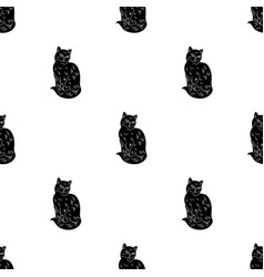 nebelung icon in black style isolated on white vector image vector image
