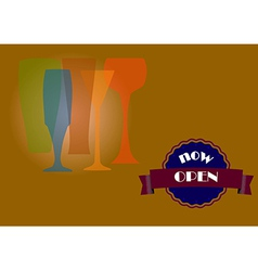 Four glasses vector image