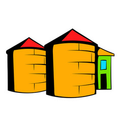 granaries for storing icon cartoon vector image
