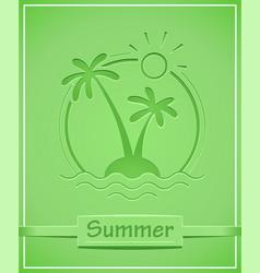 palm at tropical island vector image vector image