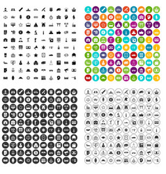 100 government icons set variant vector