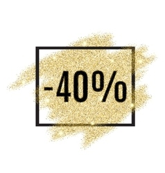 40 percent off discount promotion tag vector